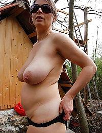 mature mom bent over