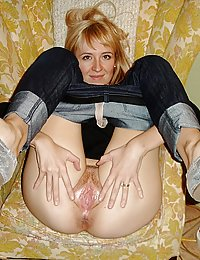 mature wife shows off for hubby by her extremely harness